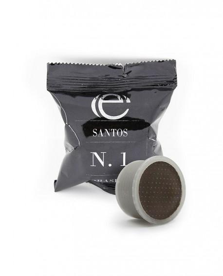 Capsule compatibili Espresso point - Caffè Monorigine - Santos n.1 - Confezione da 50 pezzi - Caffè Poli
