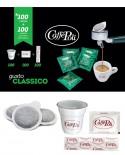 Cialda carta in Kit - Caffè Carta Verde - Confezione da 100 pezzi - Caffè Poli