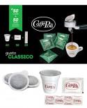 Cialda carta in Kit - Caffè Carta Verde - Confezione da 50 pezzi - Caffè Poli