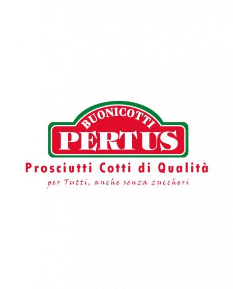 Metà Pancetta cotta DELIZIA alta qualità nazionale con PEPE NERO 2,5 Kg - Buoni Cotti PERTUS