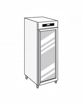 Armadio frigorifero Stagionatore 700 GLASS Carni e Formaggi - STG ALL 700 GLASS CF LCD - Refrigerazione - Everlasting