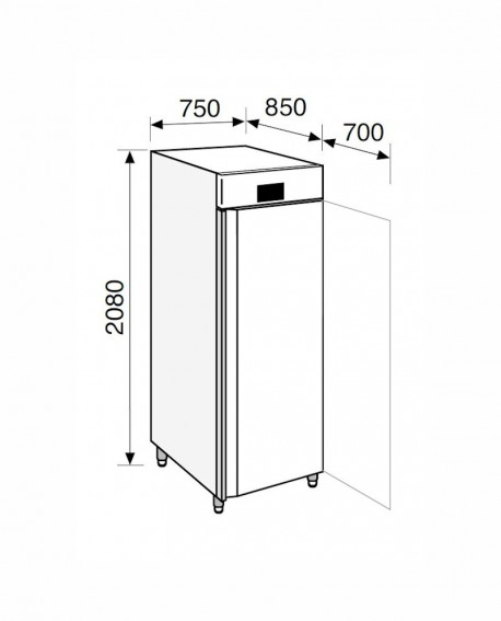 Armadio frigorifero Stagionatore 700 INOX Carni e Formaggi - STG ALL 700 INOX CF ADV - Refrigerazione - Everlasting