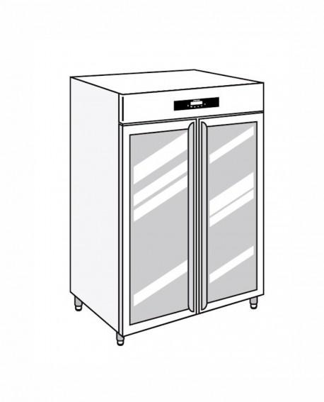 Armadio frigorifero Stagionatore 1500 GLASS Carni e Formaggi - STG ALL 1500 GLASS CF LCD - Refrigerazione - Everlasting