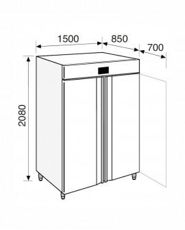 Armadio frigorifero Stagionatore 1500 INOX Carni e Formaggi - STG ALL 1500 INOX CF ADV - Refrigerazione - Everlasting