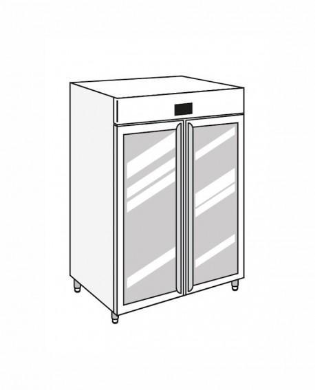 Armadio frigorifero Stagionatore 1500 GLASS Carni e Formaggi - STG ALL 1500 GLASS CF ADV - Refrigerazione - Everlasting