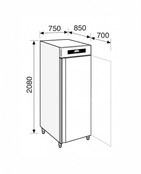 Armadio frigorifero Stagionatore 700 INOX CARNE - STG MEAT 700 INOX - Refrigerazione - Everlasting