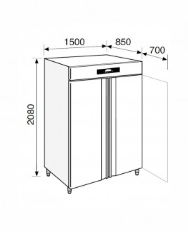 Armadio frigorifero Stagionatore 1500 INOX CARNE - STG MEAT 1500 INOX - Refrigerazione - Everlasting