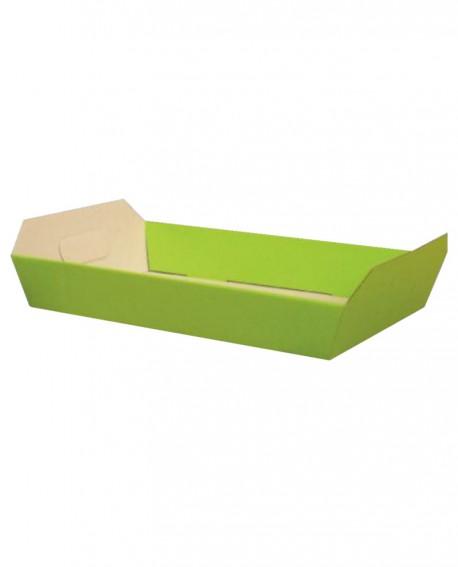 Vassoio steso verde 32,5x23 H6 - n.25 pezzi - Cesteria M.B. Service