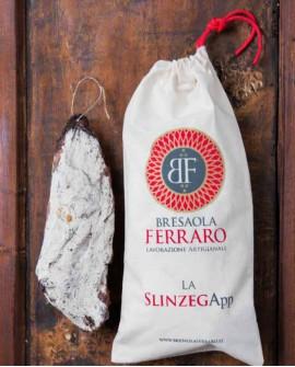 Bresaola della Valchiavenna artigianale, Slinzegapp affumicata Meraviglia - 800g stagionatura 45gg - Bresaola Ferraro