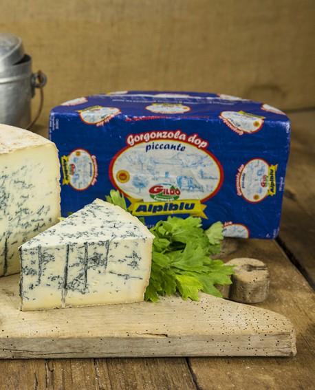 Alpiblu gorgonzola Dop piccante intero 11Kg stagionatura 90gg - Gildo Formaggi