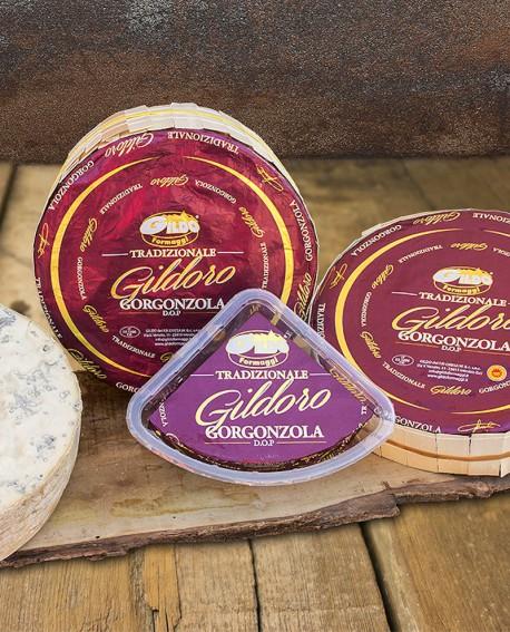 Gildoro gorgonzola Dop tradizione in vaschetta 250g stagionatura 60gg - Gildo Formaggi