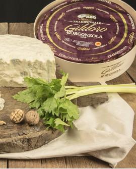Gildoro gorgonzola Dop tradizione al cucchiaio intero cont. legno 12kg stagionatura 60gg - Gildo Formaggi